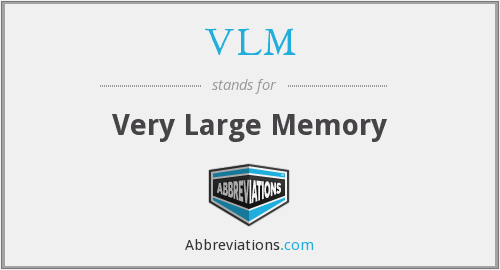 What does VLM stand for?