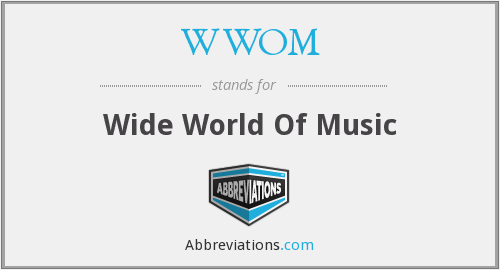 What does WWOM stand for?