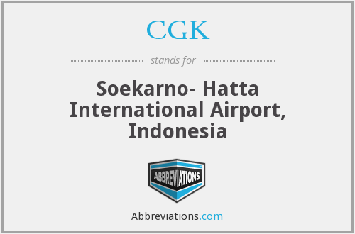 What does CGK stand for?