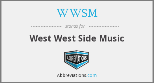What does WWSM stand for?