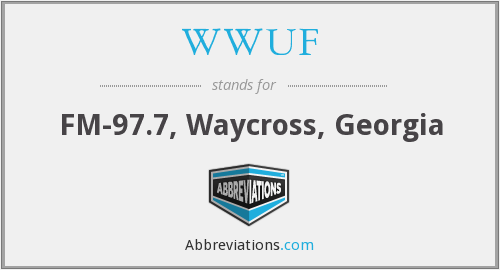 What does WWUF stand for?
