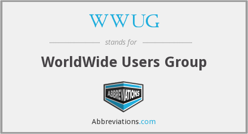 What does WWUG stand for?