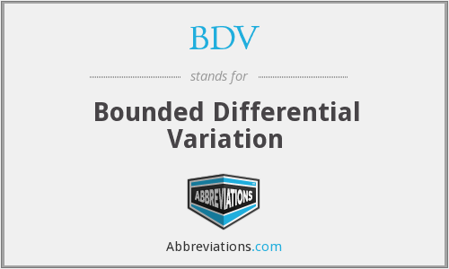 What does BDV stand for?