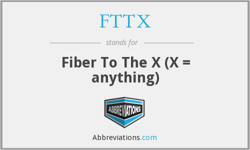What does FTTX stand for?