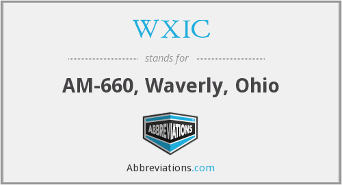 What does WXIC stand for?