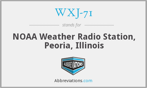 What does WXJ-71 stand for?