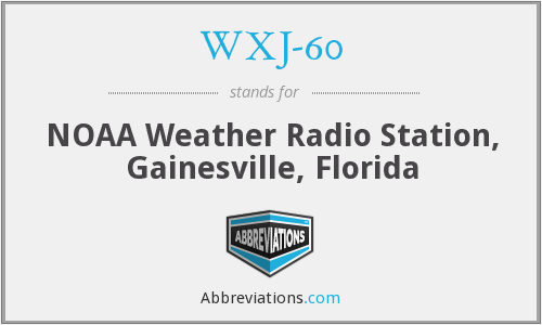 What does WXJ-60 stand for?