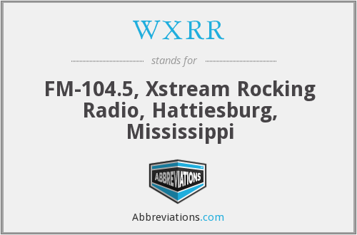 What does WXRR stand for?