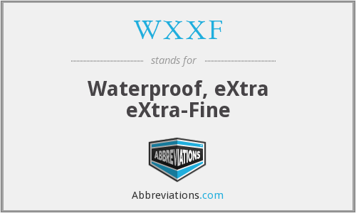 What does WXXF stand for?