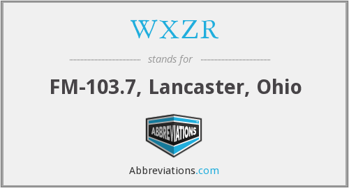 What does WXZR stand for?