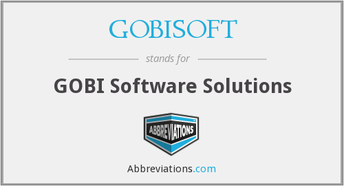 What does GOBISOFT stand for?
