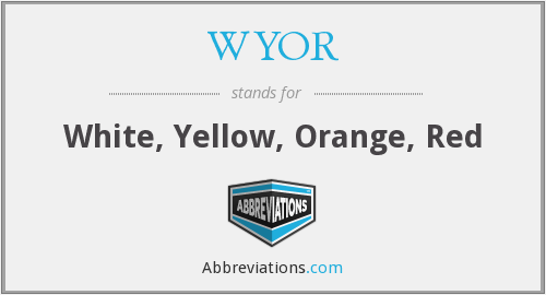 What does WYOR stand for?