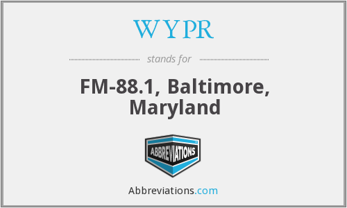 What does WYPR stand for?