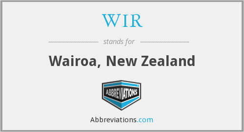 What does WIR stand for?