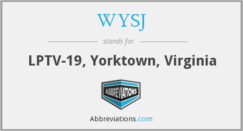 What does WYSJ stand for?