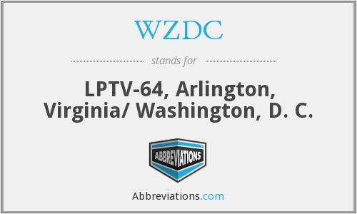 What does WZDC stand for?