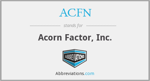 What does ACFN stand for?