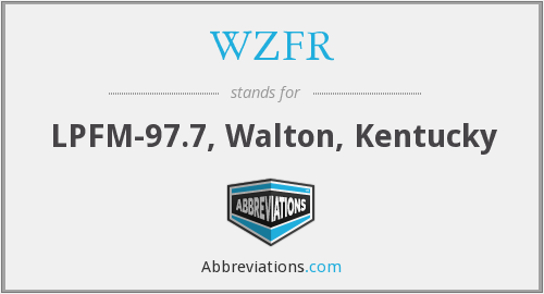 What does WZFR stand for?