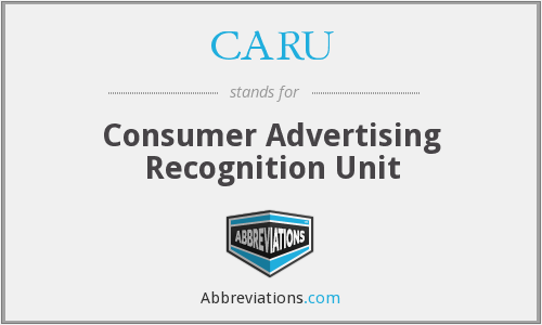 What does CARU stand for?