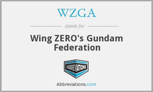 What does WZGA stand for?