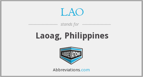 What does LAO stand for?