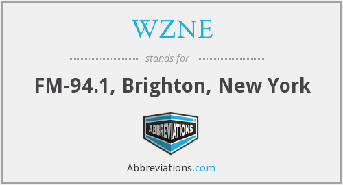 What does WZNE stand for?