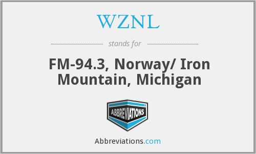 What does WZNL stand for?