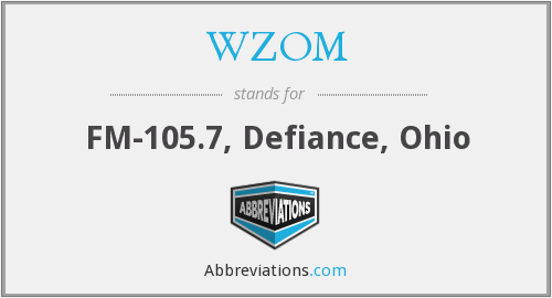 What does WZOM stand for?