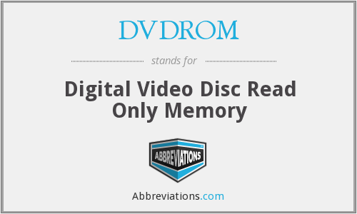 What does DVDROM stand for?