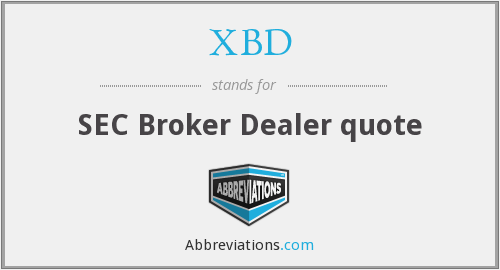What does XBD stand for?