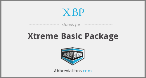 What does XBP stand for?