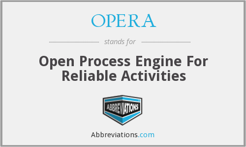 What does OPERA stand for?