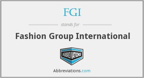 What does FGI stand for?