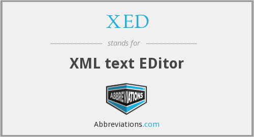 What does XED stand for?