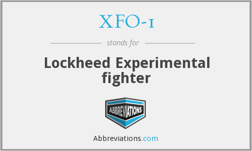 What does XFO-1 stand for?