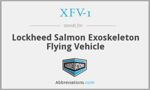 What does XFV-1 stand for?