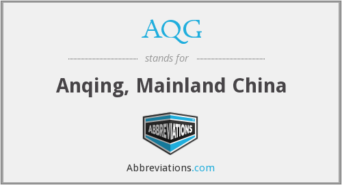 What does AQG stand for?