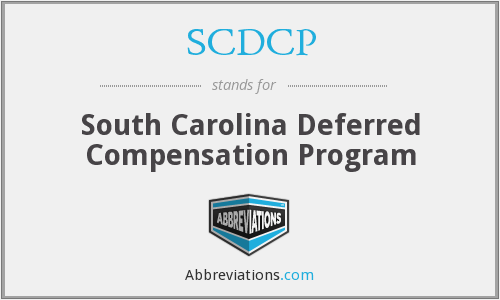 What does SCDCP stand for?