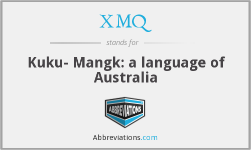 What does XMQ stand for?