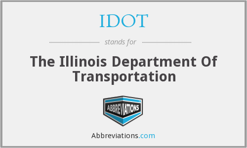 What does IDOT stand for?