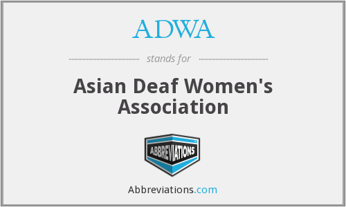 What does ADWA stand for?