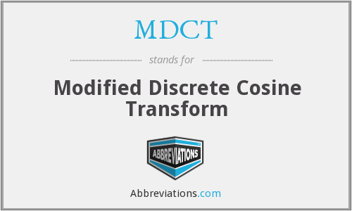 What does MDCT stand for?