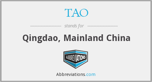 What does TAO stand for?