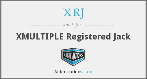 What does XRJ stand for?