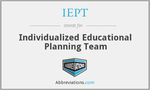 What does IEPT stand for?
