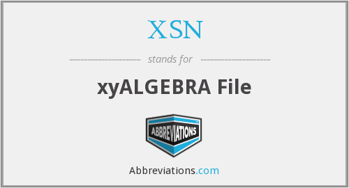 What does XSN stand for?