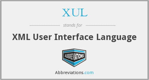 What does XUL stand for?