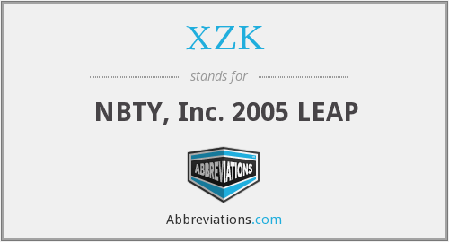 What does XZK stand for?