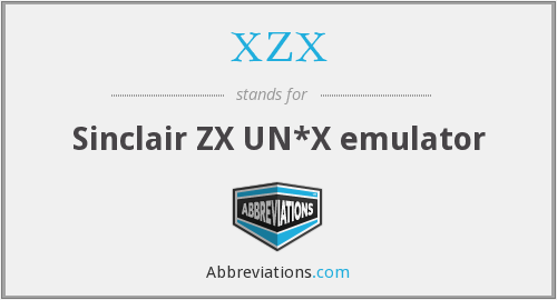 What does XZX stand for?