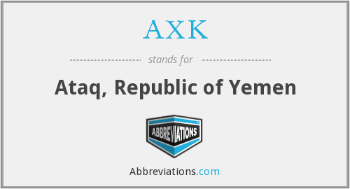 What does AXK stand for?
